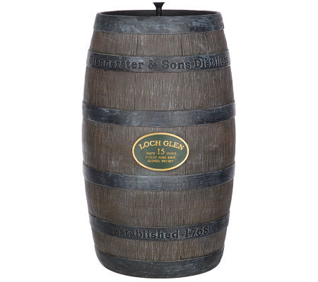 Whiskey Barrel Solar Fountain by Smart Solar