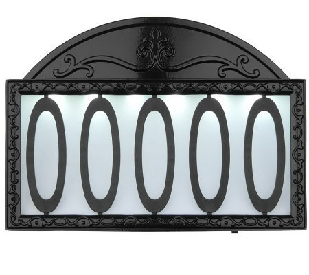 Westinghouse classic black finish aluminum solar powered for Classic house numbers