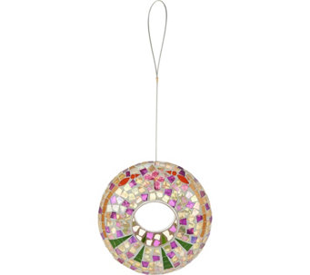 Glass Mosaic Circle Birdfeeder by Evergreen - M51818