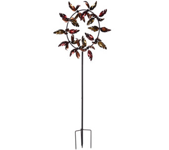 Plow & Hearth Oversized Fall Leaves Jubilee Wind Spinner - M50719