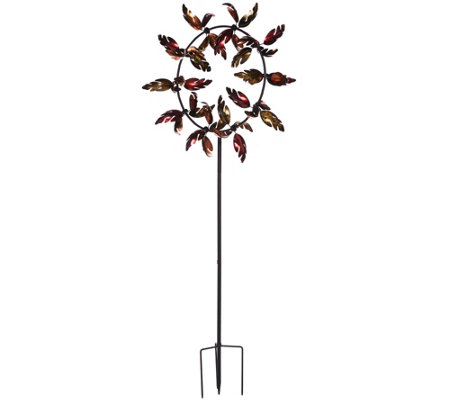 Plow & Hearth Oversized Fall Leaves Jubilee Wind Spinner