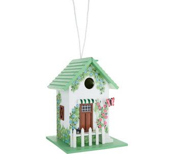 Plow & Hearth Handpainted Cottage Design Birdhouse - M52119