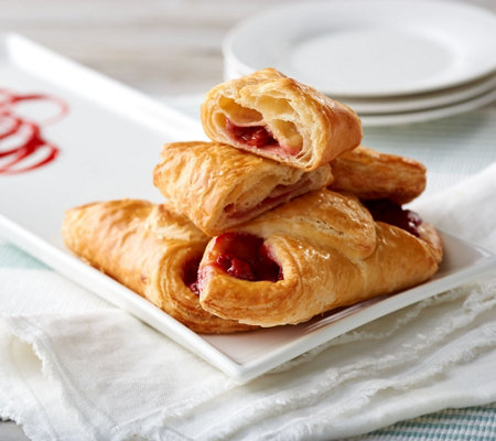Lecoq Cuisine 18 Chocolate or Cherry Filled Croissants Auto-Delivery