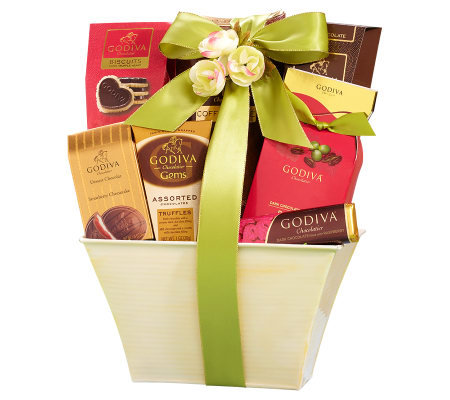 1800baskets.com Spring Delight Godiva Chocolates Basket