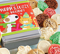 Ships 11/1 Cheryl's Warm and Fuzzy Holiday Tin- 16 Cookies - M115920
