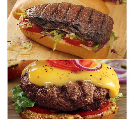 Kansas City 12 4.5-oz Steakburgers & 12 4-oz Sandwich Steaks