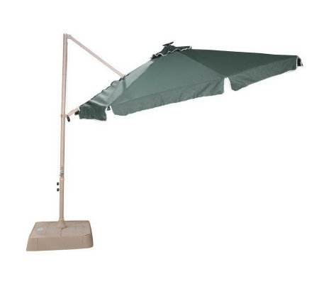 Southern Patio 10u0027 Round Offset Umbrella W/ 21 Solar Lights