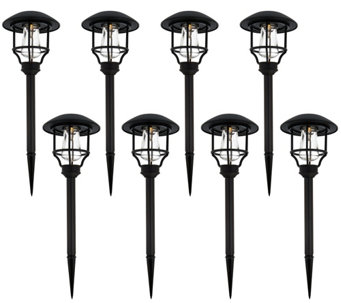 Paradise Set of 8 Cast Aluminum Solar Path Set - M48623