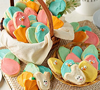 Cheryl's 60 Piece Easter Buttercream Frosted Cookies Auto--Delivery - M54223