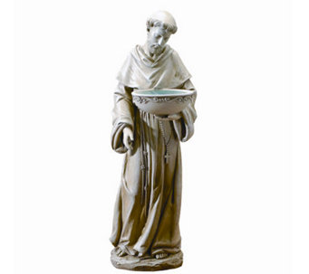 St. Francis Solar-Powered Bird Bath by Roman - M109224
