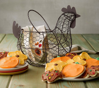 Cheryl's Fall Wire Gathering Basket of cookies - M115524