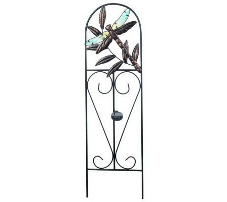 36-inch Solar Powered Decorative Garden Trellis