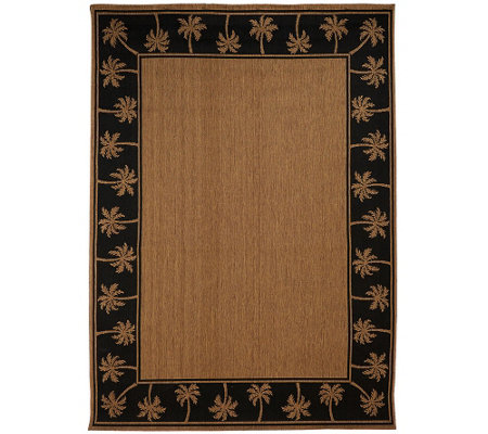 Veranda Living Indoor/Outdoor Reversible 7' x 10' Paradise Rug