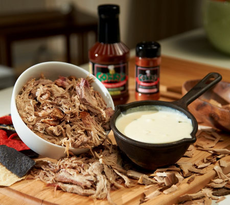 Corky's Pork BBQ Nacho Kit with White Cheese Sauce