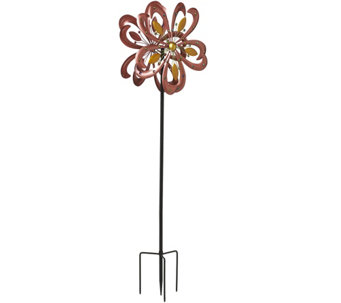 Plow & Hearth 6ft. Kissing Flamingos Garden Spinner - M48425