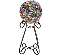 Plow & Hearth Solar Crystal Globe with Stand & Hanging Chain - M55525