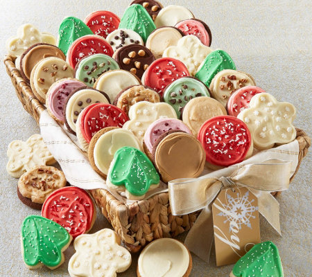 Cheryl's Medium 18-Piece Frosted Cookie Basket
