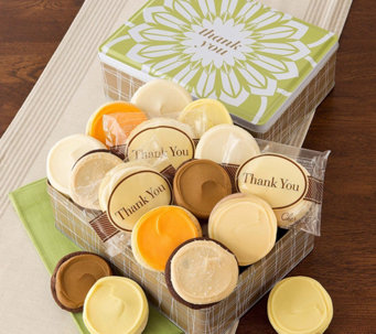 Cheryl's Thank You Gift Tin - 16 Frosted Cookies - M115426