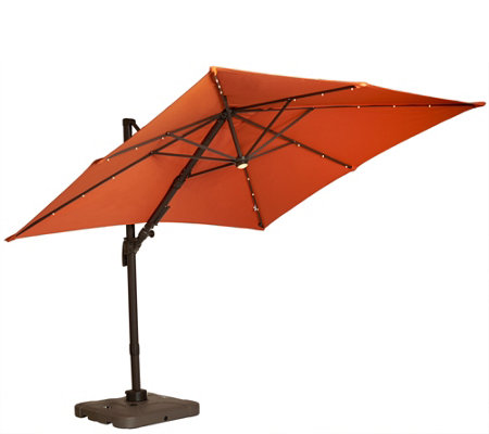 ATLeisure Multi-Tilt 8.5' Solar Offset Patio Umbrella