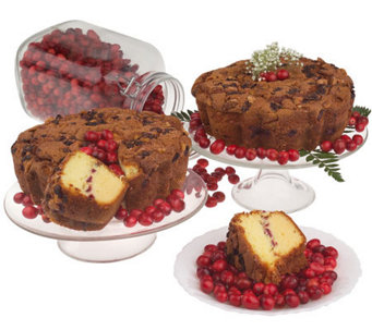 "My Grandma's (2) 8"" Cape Cod Cranberry Coffee Cakes - M102227"