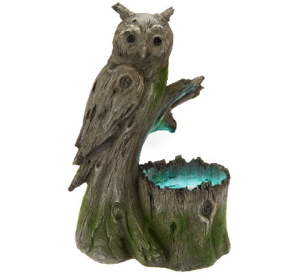 Woodland Creature Owl Light Up Electric Fountain