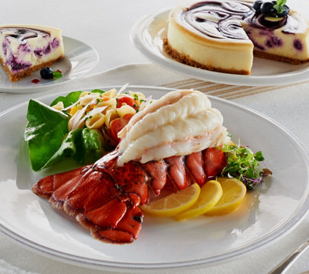 Lobster Gram (6) 5-6 oz. Lobster Tails with Junior's Cheesecake