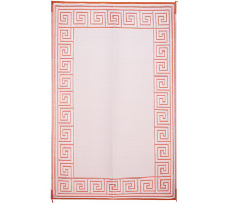 Greek Key 5x8 Reversible Outdoor Mat by PatioMats