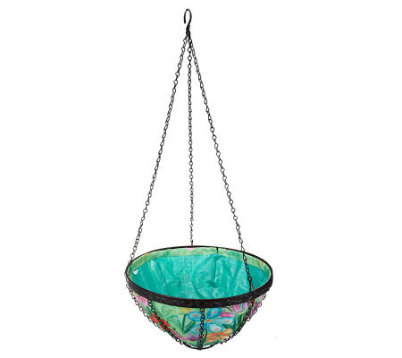 14-inch Collapsible Hanging Art Basket with Drainage System