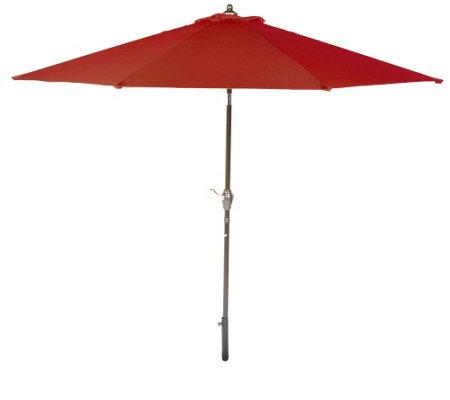 ATLeisure 9u0027 Crank U0026 Tilt Patio Umbrella With Removable Cover