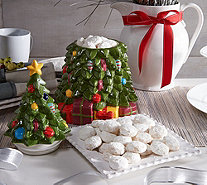 Ships 12/12 Too Good Gourmet Holiday Cookie Jar with 1 lb. of Tea Cookies - M53628