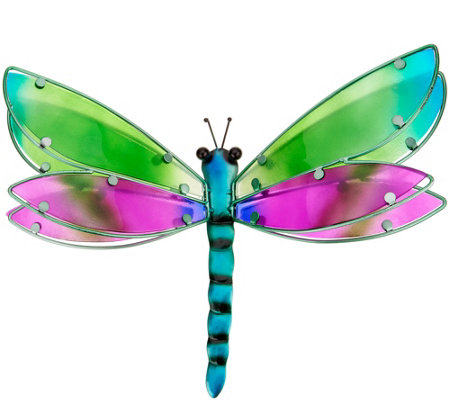 Plow U0026 Hearth Layered Glass Butterfly Or Dragonfly Wall Art