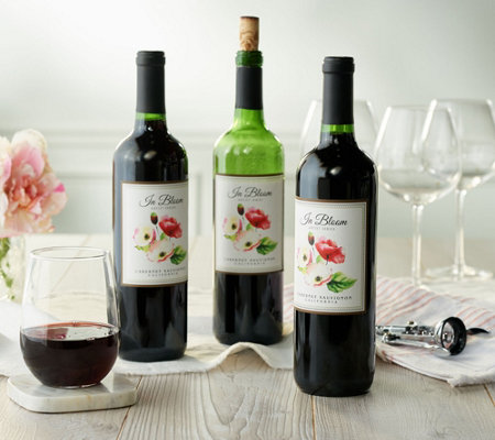 Vintage Wine Estates In Bloom Artist Series 3 Bottle Wine Set