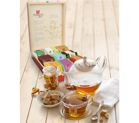 Wissotzky Tea Imperial Mahogany Tea Chest w/ 90Assorted Teas