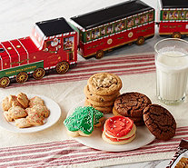 Ships 11/6 Cheryl's 4-Piece Santa Train Set with 52 Cookies - M55930
