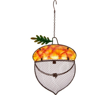 Harvest Themed Glass and Metal Birdfeeder by Evergreen - M49131