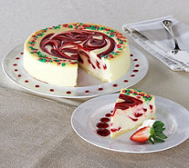 Ships 12/12 Junior's 3 lb. Christmas Swirl Cheesecake Auto-Delivery - M53731