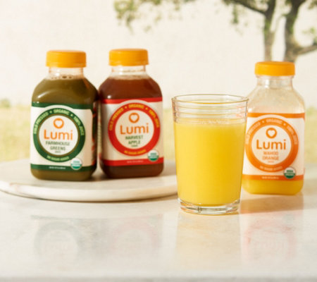 Lumi Juice (12) 10-oz Cold Pressed Juices