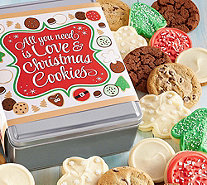Ships 11/1 Cheryl's Love and Cookies Holiday Tin - 16 Cookies - M115932