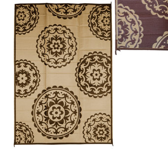 Medallion Design 8 x 11 Outdoor Mat by PatioMats - M49232