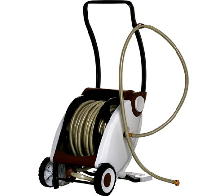 75-foot Hose with Foot Crank Powered Hose Reel