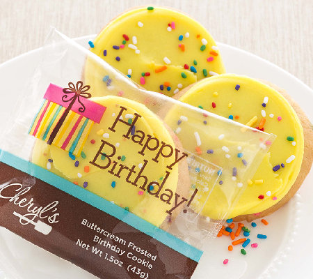 Cheryl's 48 Buttercream Frosted Birthday Cake Cookies