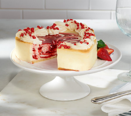 Strawberry Swirl Cheesecake Recipe Cheesecake Factory white chocolate strawb...