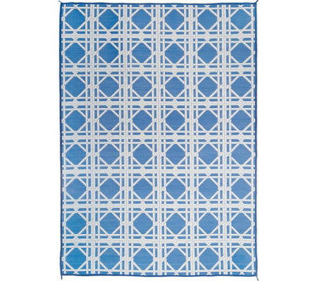Barbara King 8x11 Cane Reversible Outdoor Mat by PatioMats