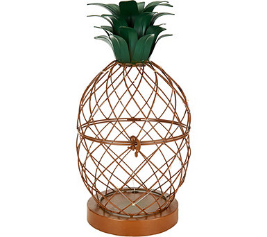 Plow & Hearth Illuminated Metal Garden Planter - M52333