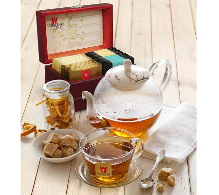 Wissotzky Tea Royal Tea Chest with 32 AssortedTeas