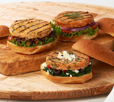 Graham & Rollins (15) 3.5 oz Salmon Burger 3-Flavor Auto-Delivery