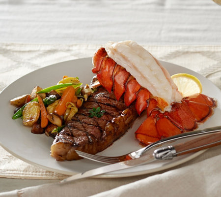 Kansas City (4) 10 oz. Strip Steaks & (4) 5 oz. Lobster Tails