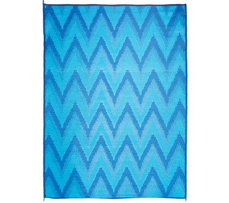 Barbara King 8x11 Chevron Reversible Outdoor Mat by PatioMats
