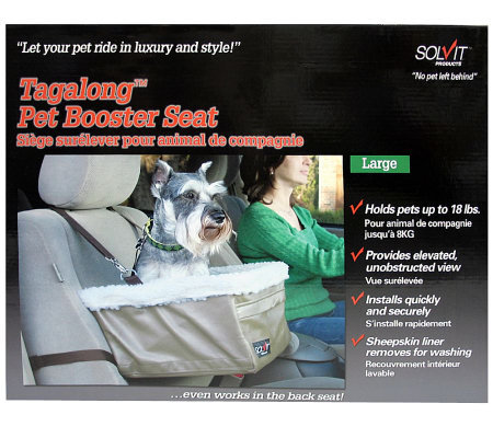 solvit pet booster seat instructions