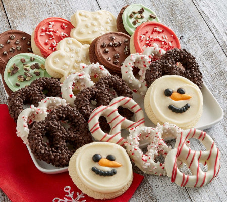 Cheryl's 20 piece Holiday Cookies and Gourmet Pretzels